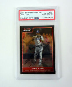 Jeff-Kent-2006-Bowman-Chrome-Signed-Autograph-Card-Slabbed-PSA-DNA-COA