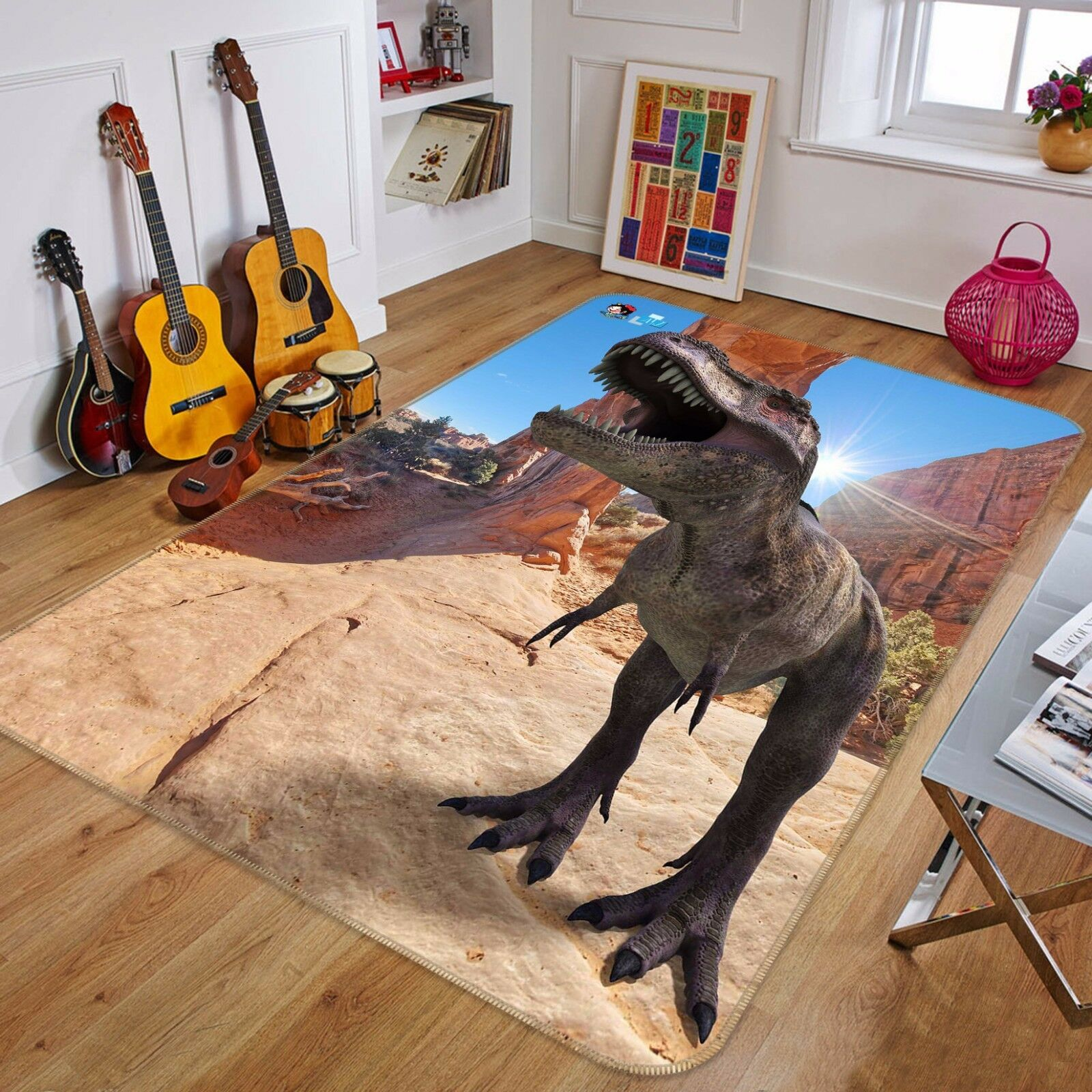 3D Dinosaur 421 Non Slip Rug Mat Room Mat Quality Elegant Photo Carpet AU Summer