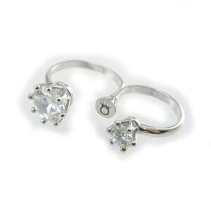LE-CORONE-anello-doppio-dito-Twins-zirconi-bianco-montatura-argento-925