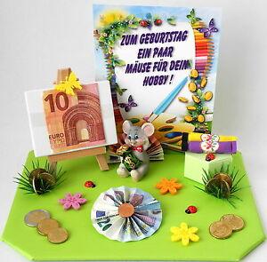 Geldgeschenk Geburtstag Mause Fur Deine Hobby Staffelei Malen