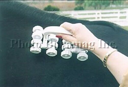 HORSE MAGNETIC PULSATING PULSATING PULSATING FIELD MASSAGER WITH 32 MAGNETS BUILD-IN ROLLERS a8213b