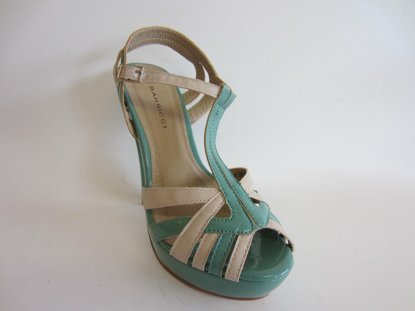 Moda jest prosta i niedroga Barricci F1949 Ladies Green Multi Patient Peep-toe Heel Shoe (R64A) (Kett)
