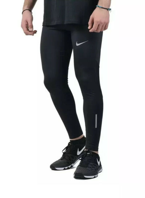 "Nike Tech 28.5/"" Running Tights Men/'s Sz Large L Black 857845 010 NWT"
