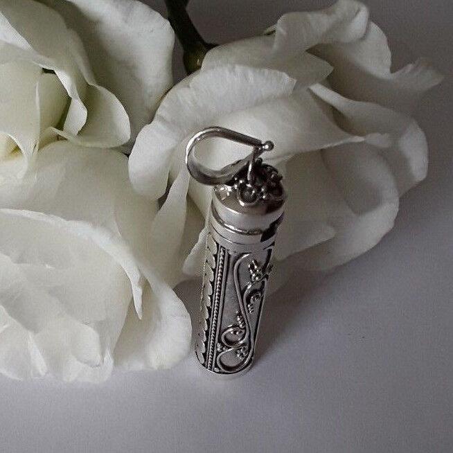 AGNES CREATIONS    PENDENTIF CYLINDRIQUE COFFRET BOITE A SECRET EN silver 925