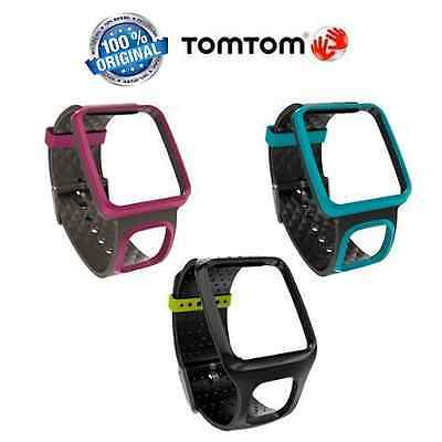TomTom Comfort Strap Slim for Runner/Multi-Sport GPS (Black/Dark Pink/Turquoise)