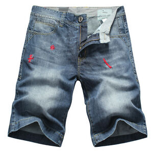 NEW-MEN-039-S-FOXJEANS-DENIM-MEN-039-S-BLUE-JEANS-SHORTS-SIZE-42