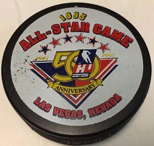 1995 IHL All-Star Game Official Hockey Puck Las Vegas Thunder