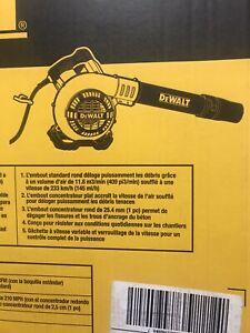 New DeWALT 12 AMP Electric/Corded Hand Held Leaf/Etc. Blower (DWBL700)