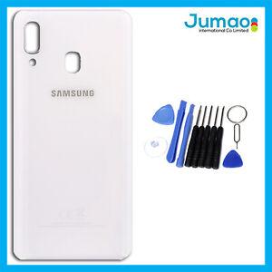 Vitre-arriere-capot-cache-batterie-Blanc-avec-Adhesif-Pour-Samsung-Galaxy-A40