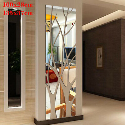3d Wall Sticker Mirror Tile Square Self, How To Remove Self Adhesive Mirror From Wall