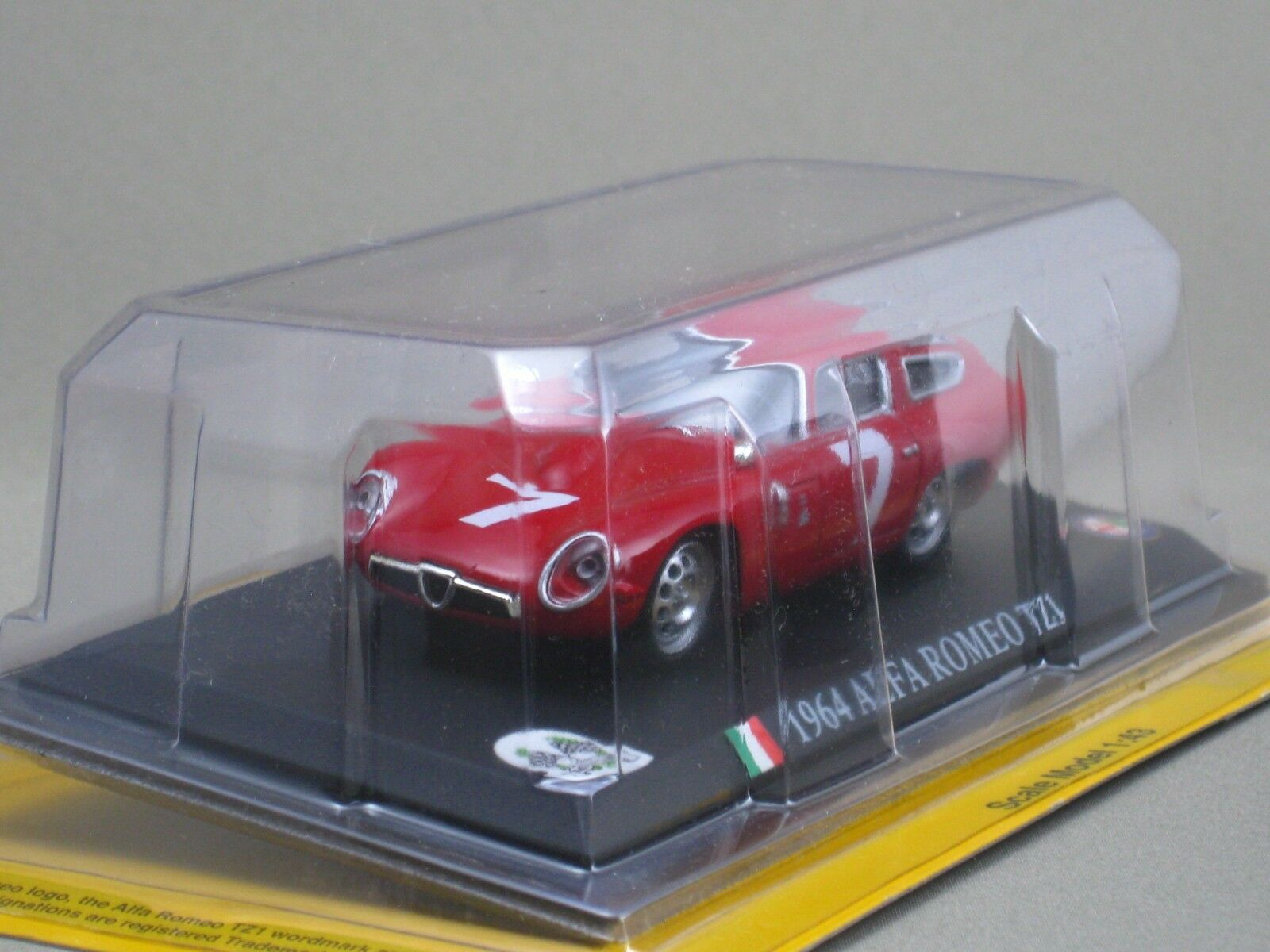 Alfa Romeo TZ1 TZ1 TZ1 1964 1 43 Die Cast Modelo World Racing Car Colección DELPRADO d15ac8