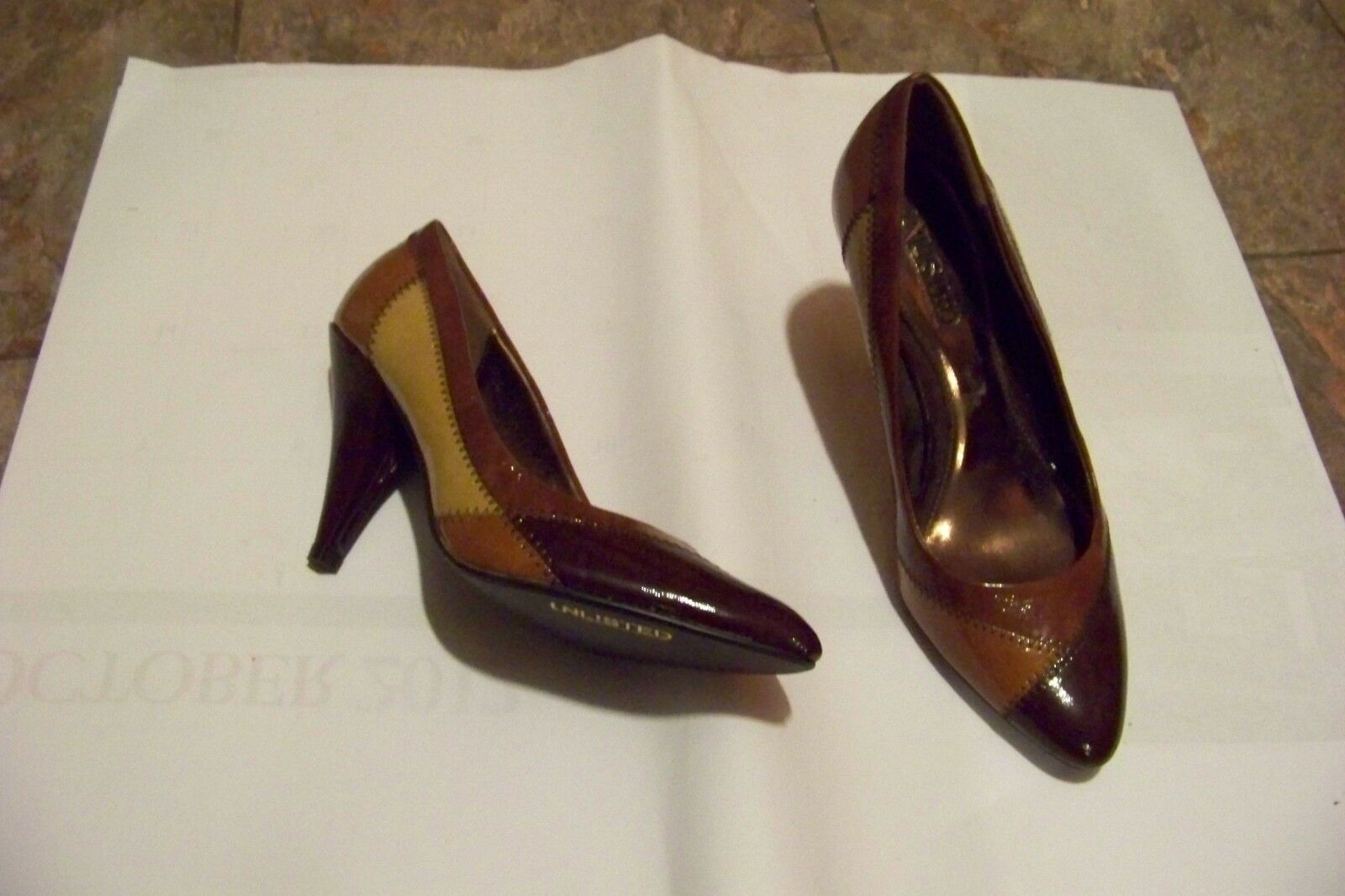 womens unlisted kenneth cole my change shoes multi brown patent heels shoes change size 7 0a41eb