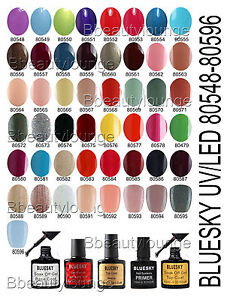 BLUESKY-NAIL-POLISH-UV-LED-GEL-80501-80661-10ML-Classic-Standard-Range-Free-P-P