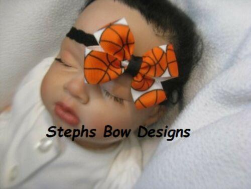 BasketBall Dainty Hair Bow Lace Headband 4 Preemie 2 Toddler Made 2 Match