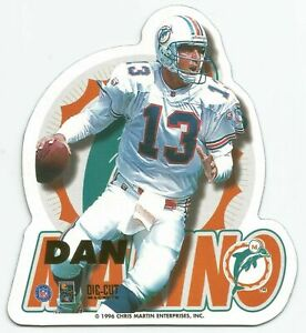 1996 NFL Die-Cut Magnets Dan Marino Miami Dolphins Neuf New sealed