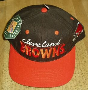 sneakers for cheap d7e64 bf911 ... new style image is loading cleveland browns hat vintage snapback hat new  with 0181b 34d2f
