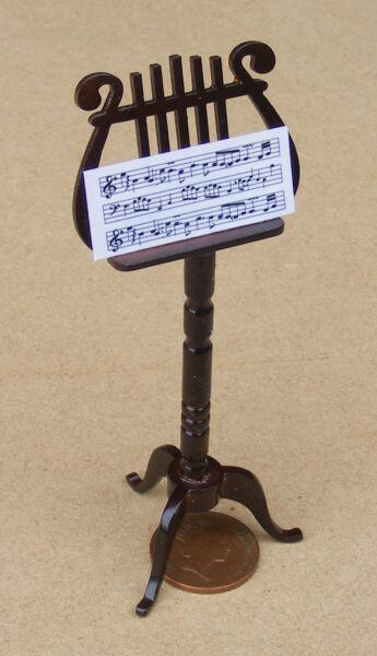 1:12 Scala Decorata In Legno Music Stand Casa Delle Bambole Accessorio Tumdee Strumento 559 Essere Distribuiti In Tutto Il Mondo