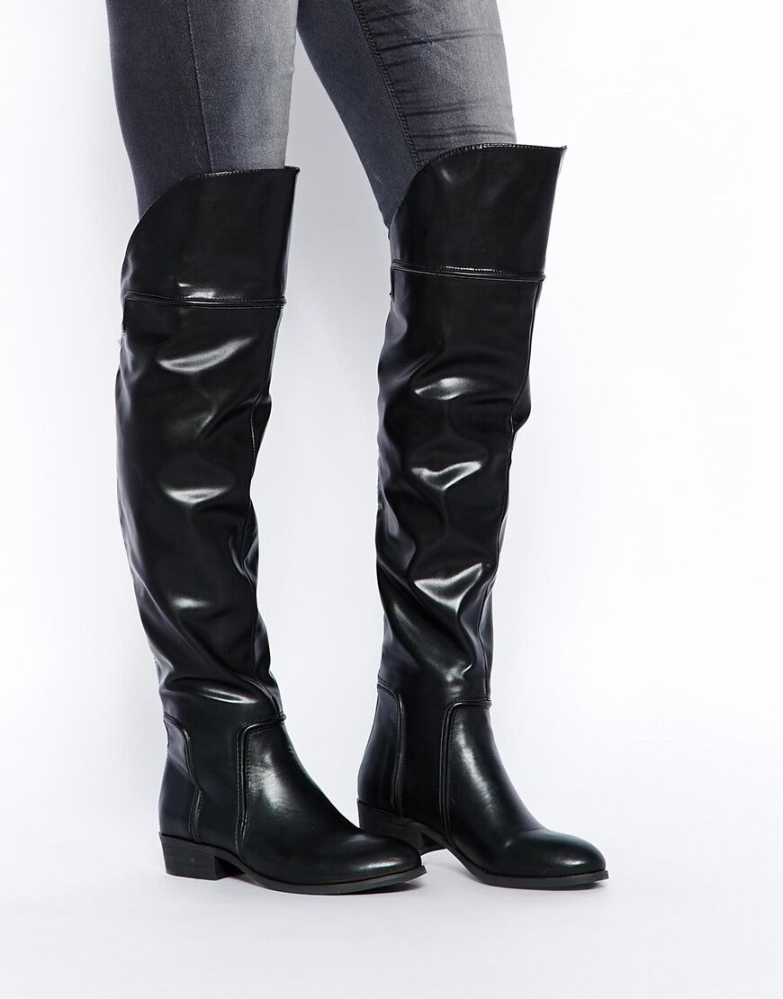 Report Signature Gema Over The Knee Boots, BLACK Size 8