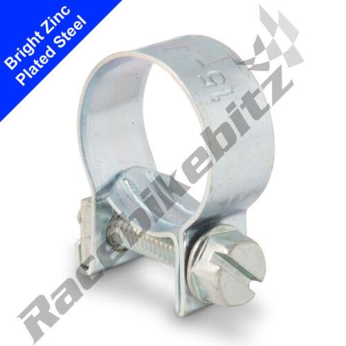 Mild Stainless Steel Mini Fuel Line Jubilee Hose Clip Petrol Diesel Pipe Clamp