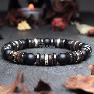 New Modèle Bracelet Homme perles pierre gemme Bois Cocotier-Coco Hématite 4CkQhHgN-09164414-333697955