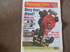 Motoring News 24 May 1995 Niki Lauda Interview Cesar Torres Kelvin Burt BTCC