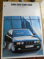 BMW 520i, 525i, 530i e 535i colori e tappezzeria OPUSCOLO 1990