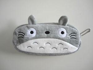 Kawaii Totoro Pencil Case Plush Purse Cosmetic Pouch Pen Bag Gift Studio Ghibli