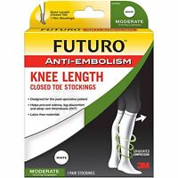Futuro Anti-embolism Stockings Knee Length Closed Toe, Large Moderate