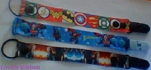 Boy//Girl Pacifiers Avengers FREE POST Toy Saver 1 x DUMMY CLIP Hand Made