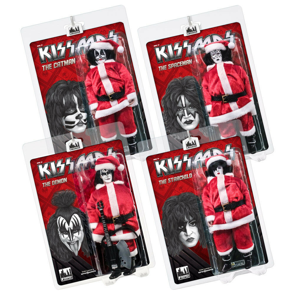 KISS 8 Inch Limited Edition Action Figure Christmas Series  Set of all 4