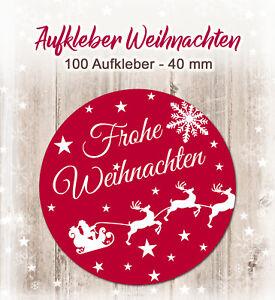 Frohe Weihnachten Aufkleber.Details Zu 100 Aufkleber Frohe Weihnachten Geschenke 40mm