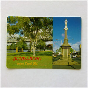 Bundaberg Sugar Coast Bourbong Street Statue Bridge Burnett MV Postcard (P353)