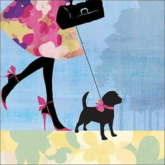 Allison Pearce. Best Friend I Keilrahmen-Bild Leinwand Hund Frau Freund Mode