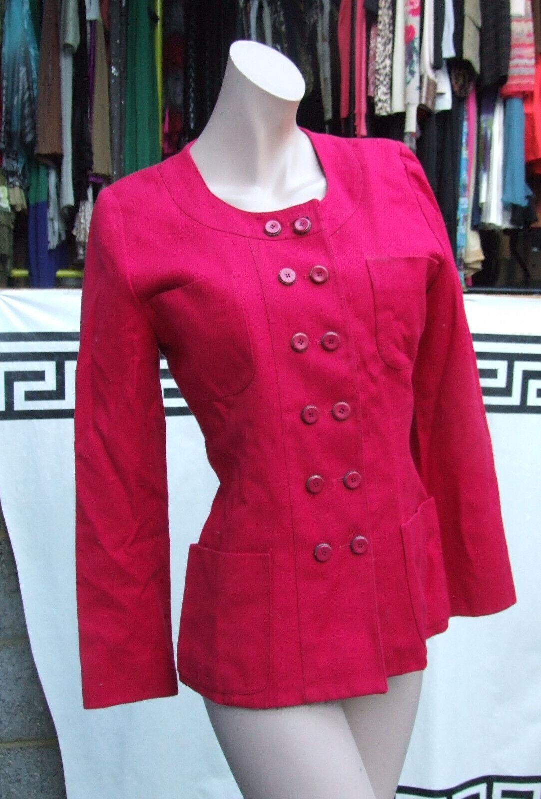 FR 40 di marca Karl Lagerfeld favoloso doppio petto vivace Giacca Rossa Classica