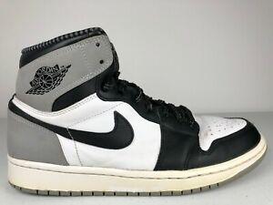 Details about Nike Air jordan 1 Retro High OG Barons 555088-104 Size 9 White Black Wolf Grey