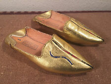 Exotic Colorful Gold Slippers Arabic Magical Unique Costume