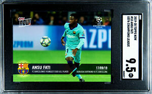 Ansu-Fati-2019-20-Topps-Now-UEFA-Champions-League-335-Youngest-SGC-9-5-Mint