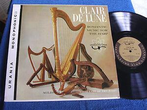 Mildred-Dilling-Claire-de-Lune-Romantic-Music-for-Harp-Mono-Urania-UX-138-MINT
