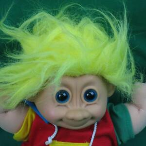 Image Is Loading Russ Yellow Blonde Hair Troll Baby Boy Doll