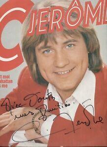 Autographe dédicace ORIGINAL du Chanteur C.JEROME sur Pochette LP 33T 1975