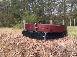 "Men/'s 1 1//2/"" Heavy Duty Leather Gun Work Belt/_Holster CCW /_Amish Like/_Handmade"
