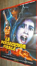 LA PERSECUTION FINALE   ! alan tam rare affiche cinema hongkong kung-fu 1978