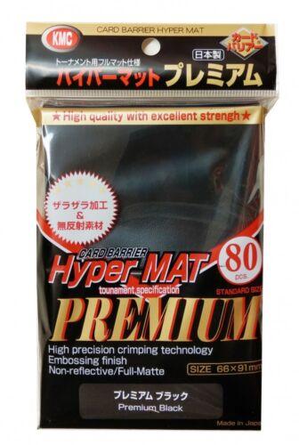 KMC Standard Sleeves 80 Hyper Mat PREMIUM Black 66x91mm