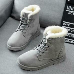 Ths01-Womens-Winter-Warm-Outdoor-Lace-Up-Ankle-Boots-Fur-Linen-Lace-Up-Pull-On-S