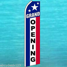 Grand Opening Rwb Flutter Flag Tall Feather Swooper Advertising Sign Banner 1126