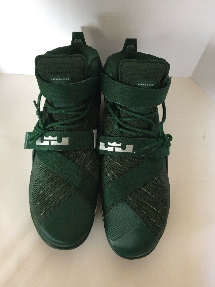 NWOB Nike Men's Sz 18 Lebron James Soldier IX 9 MSU Green/White Price reduction best-selling model of the brand