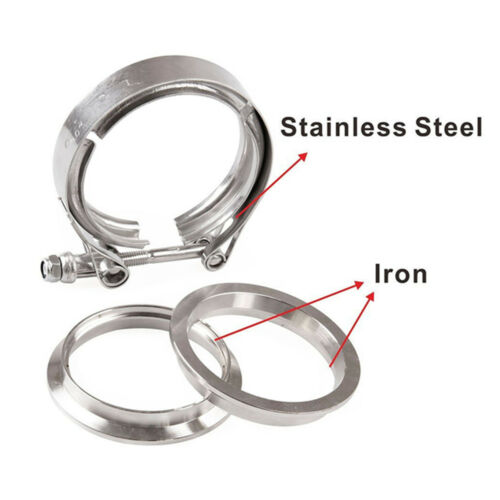 """2.5/"""" inch Stainless Steel #304 V band Clamp Flange Turbo Exhaust Down Pipe"""