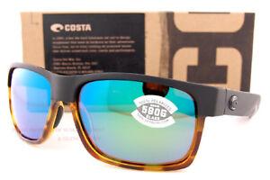 56f243f30e New Costa Del Mar Sunglasses HALF MOON Matte Black Tortoise Green ...
