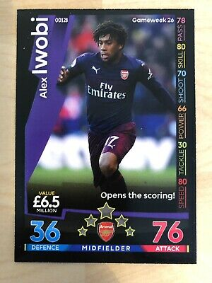 Match Attax Arsenal On Demand 2018//19-128 Alex Iwobi