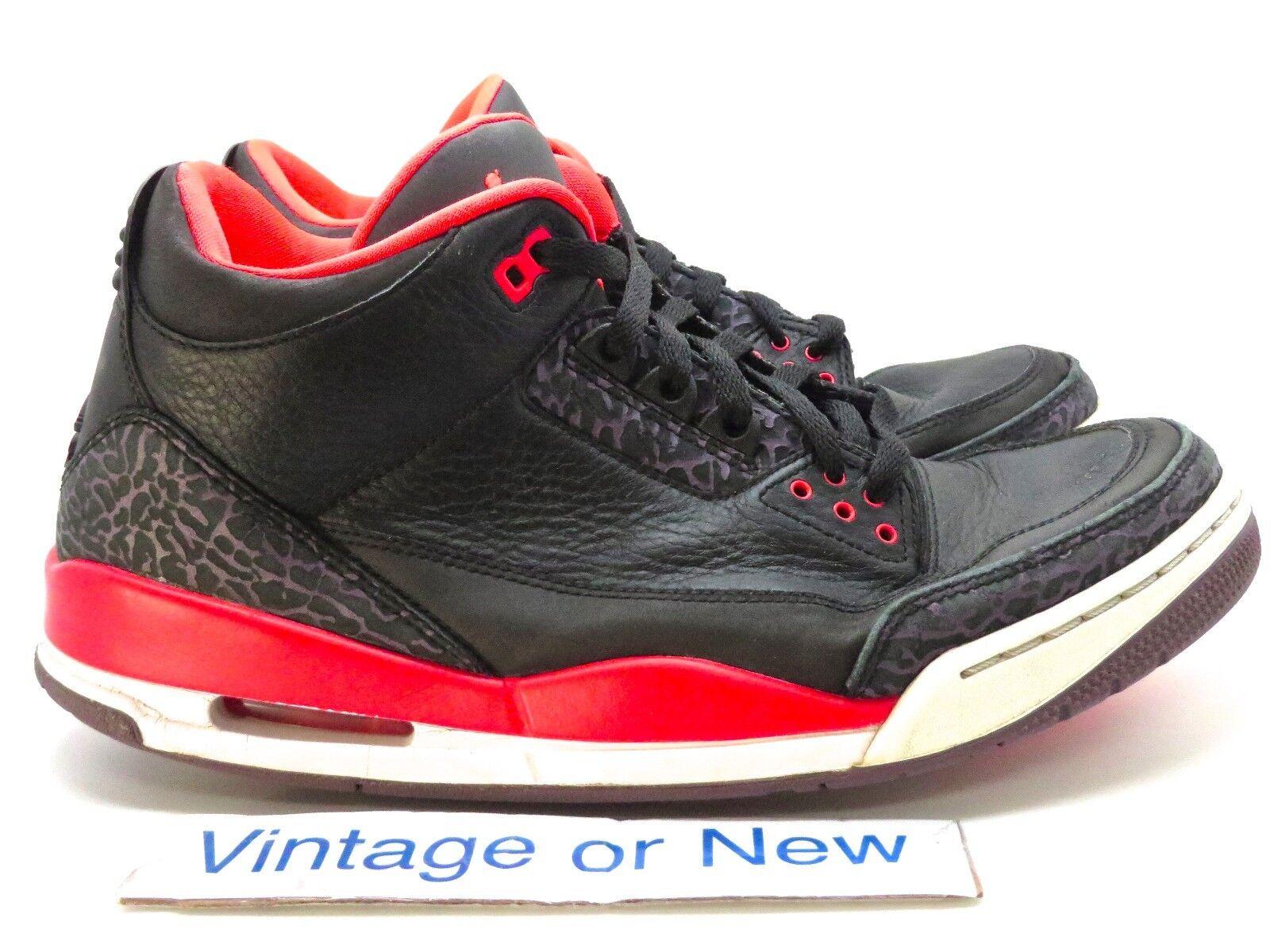 Air Jordan III 3 Crimson Retro 2018 sz 10.5